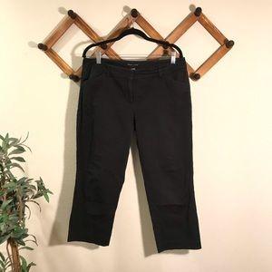 New York & Company | Black cotton capris s…